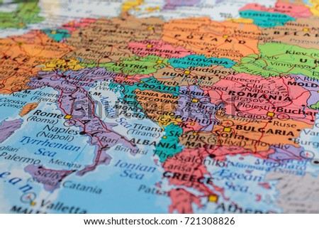 map of europe #721308826