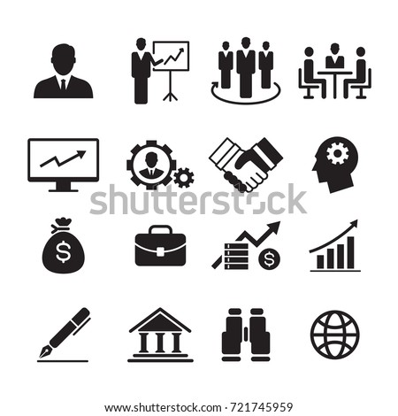 business icon, vector