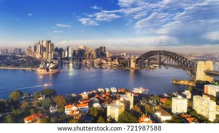 Major Sydney city landmarks  Royalty-Free Stock Photo #721987588