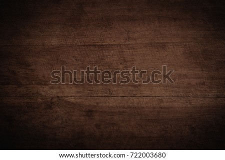 Old grunge dark textured wooden background,The surface of the old brown wood texture #722003680