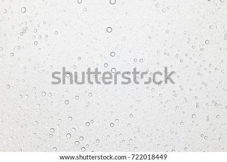 Water drops on glass, Rain droplets on glass background. #722018449
