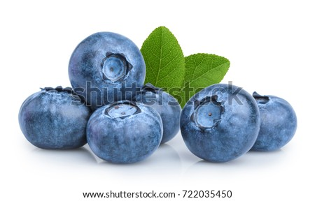 blueberries isolated #722035450