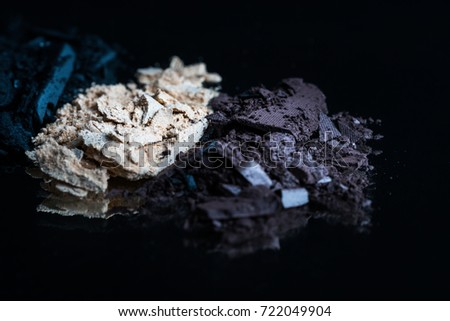 eye shadow in brown, gold and black color./ eye shadows. #722049904