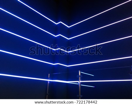 Neon lights on a blue background #722178442