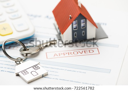 Approved mortgage loan agreement application #722561782