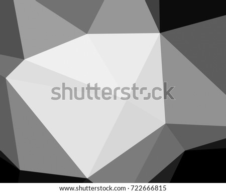 Black and white with triangular background.Geometric background in origami style with gradient.Broken geometric shapes.Decorative background can be used for wallpapers #722666815