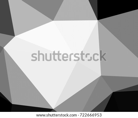 Black and white with triangular background.Geometric background in origami style with gradient.Broken geometric shapes.Decorative background can be used for wallpapers #722666953