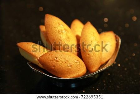 freshly baked bread on white plate #722695351