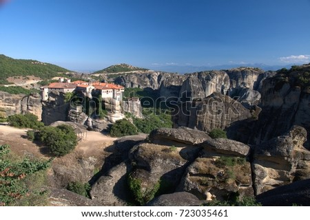 Meteora - a rock formation and a complex of Eastern Orthodox monasteries in Greece #723035461
