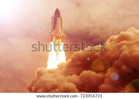 Rocket liftoff. The elements of this image furnished by NASA. #723056731