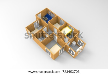 3D design of home space #723453703