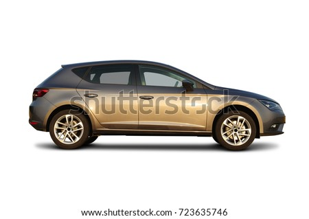 car on white background Royalty-Free Stock Photo #723635746