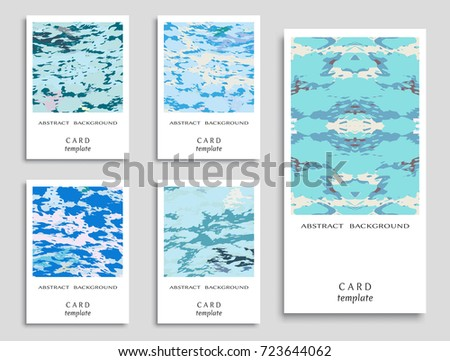 Colorful grunge backgrounds collection. Card or Invitation template. Vector freehand artwork. Abstract modern art #723644062