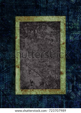 Chalkboard on a Motherboard texture background #723707989
