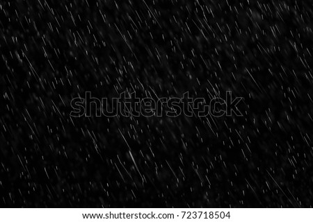 texture of rain and fog on a black background overlay effect Royalty-Free Stock Photo #723718504