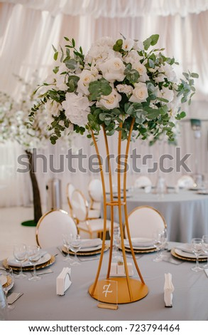 Decoration flower wedding table. Wedding decor. Wed #723794464