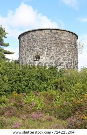 Old stone tower with barred window, Ireland. #724225204