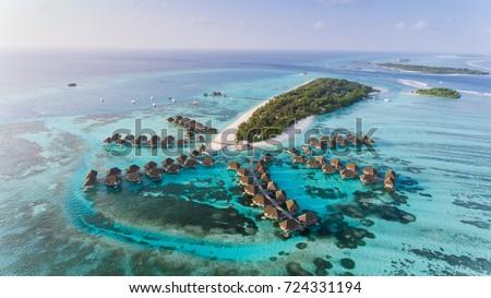 Amazing bird eyes view in Maldives #724331194