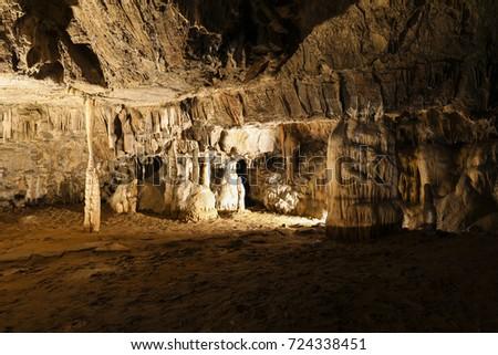 Postojna Cave (Slovenian: Postojnska jama; Italian: Grotte di Postumia) is a 20,570 m long Karst cave system #724338451