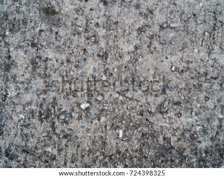 Walls of cement with various things.Focus Selection #724398325