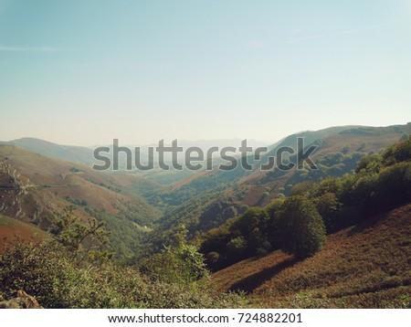 Izpegi Pass in Pyrenees Mountains France Spain Border #724882201