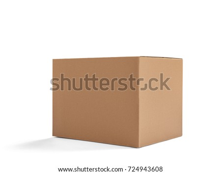 close up of  a cardboard box on white background #724943608