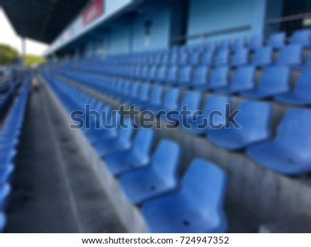 Blur seat chair in football. #724947352