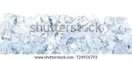 Ice cubes background. #724956793