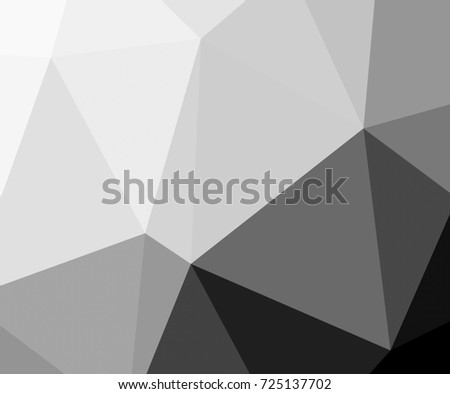 Black and white with triangular background polygonal.Geometric background in origami style with gradient.Broken geometric shapes.Decorative background can be used for wallpapers #725137702