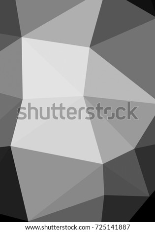 Black and white with triangular background polygonal.Geometric background in origami style with gradient.Broken geometric shapes.Decorative background can be used for wallpapers #725141887