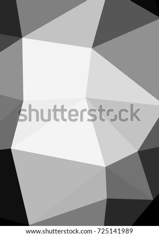Black and white with triangular background polygonal.Geometric background in origami style with gradient.Broken geometric shapes.Decorative background can be used for wallpapers #725141989