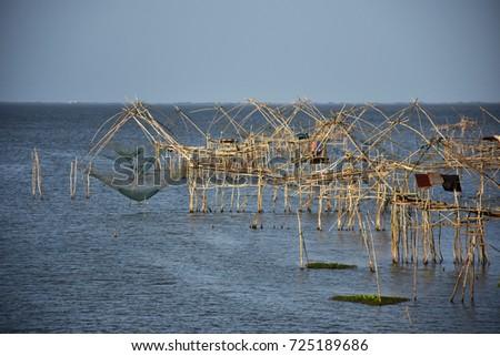 Fishing tools of local fishermen. #725189686
