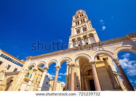 Diocletian palace UNESCO world heritage site in Split, Dalmatia, Croatia Royalty-Free Stock Photo #725239732