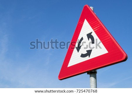 Dutch road sign: roundabout