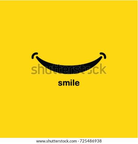 Smile icon Logo Vector Template Design Royalty-Free Stock Photo #725486938