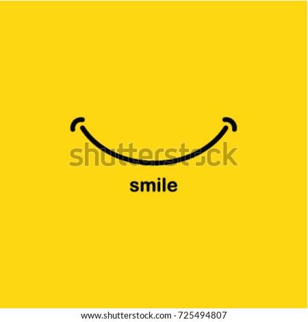 Smile icon Logo Vector Template Design Royalty-Free Stock Photo #725494807