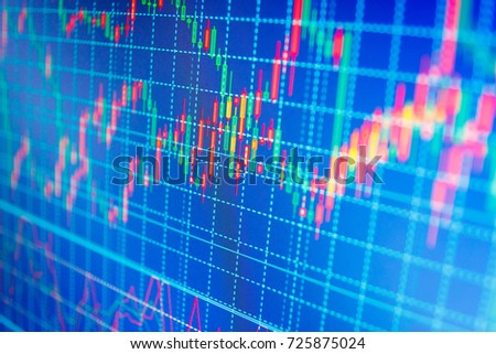 Market analysis for variation report of share price. Stock analyzing. Conceptual view of the foreign exchange market. Finance concept. Online forex data.