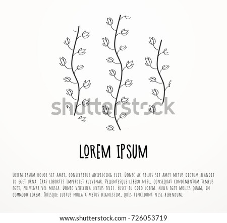 Sign with herbs and spice pattern #726053719