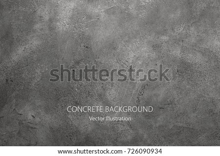 Vector gray concrete texture. Stone wall background. Royalty-Free Stock Photo #726090934