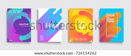 Modern abstract covers set. Cool gradient shapes composition. Eps10 vector. Royalty-Free Stock Photo #726114262
