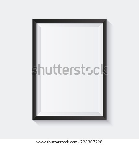 Realistic picture frame isolated on white background. Perfect for your presentations. Vector illustration. Royalty-Free Stock Photo #726307228