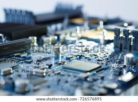 Hardware computer motherboard electronic circuit #726576895