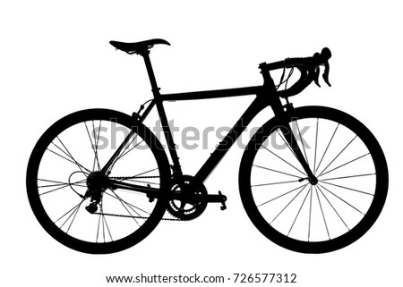 Road Bike Silhouette on white background. #726577312