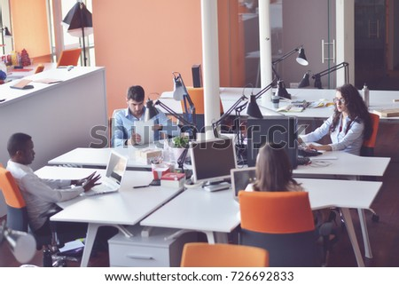 startup business people group working everyday job at modern office #726692833
