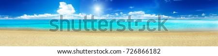 Sea beach panorama Royalty-Free Stock Photo #726866182