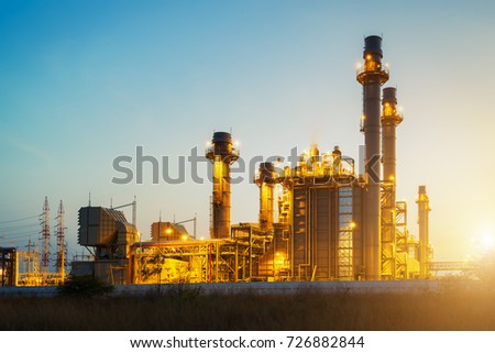 Power plant,Energy power station at blue sky #726882844