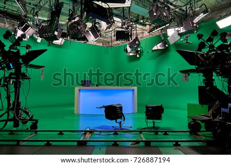 the TV Studio. video equipment