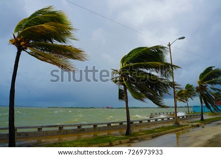 Cienfuegos World Heritage UNESCO Site Town in Cuba During Hurricane Irma 2017 Damage and Destruction