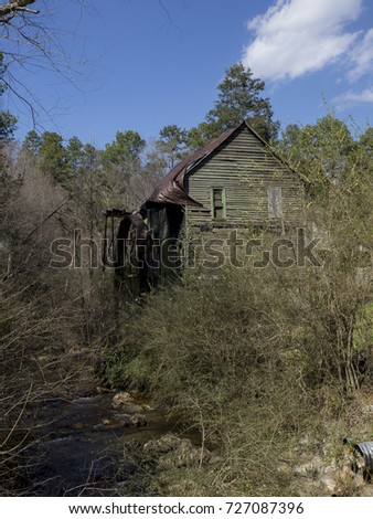 Water Wheel at a Grist Mill #727087396