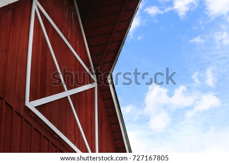 Red Barn with blue sky
